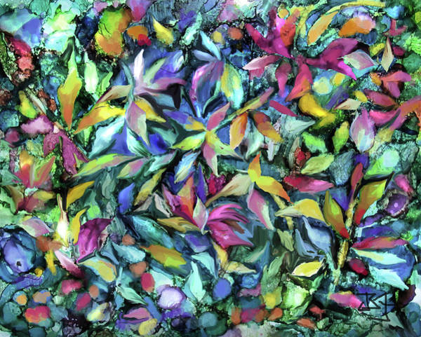 Digital Art - Flower Intensive by Jean Batzell Fitzgerald
