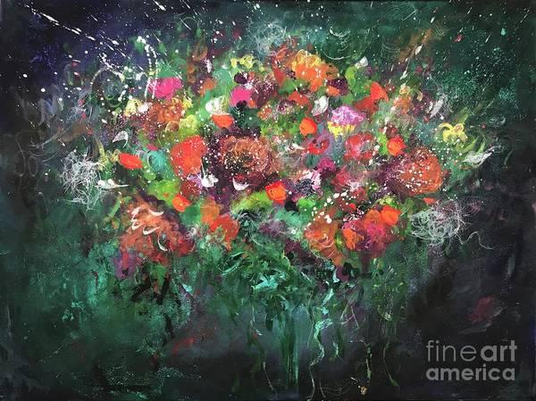 Amaryllis Painting - Flower Mood by Elena Guryeva
