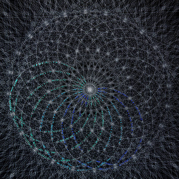 Sacred Geometry Drawing - Flower Of Life 8 by Cliff Barber