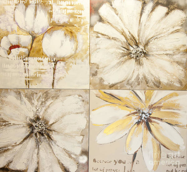 Wall Art - Photograph - Flower Paintings by Stylone