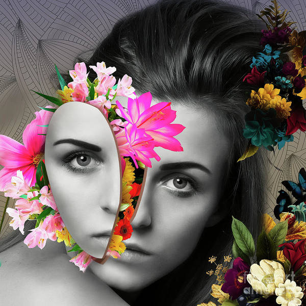 Pretty In Pink Mixed Media - Flower Power Part One  by Erik Brede