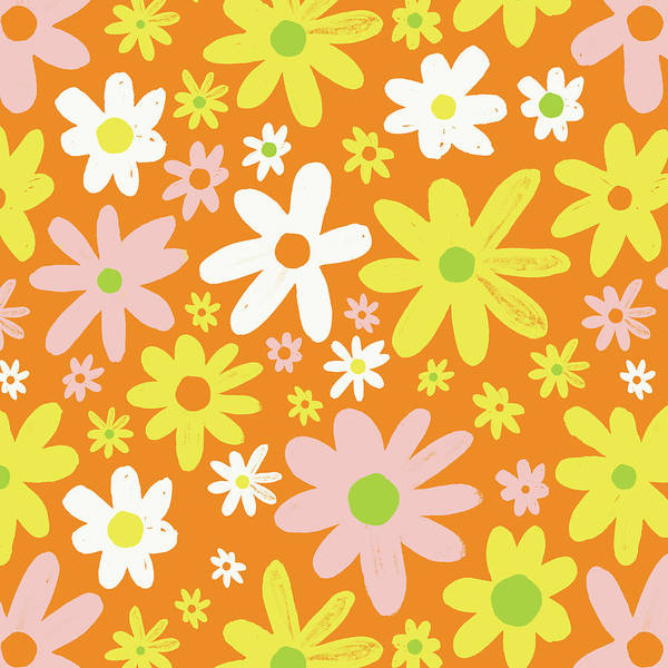 Painting - Flower Power Pattern by Jen Montgomery