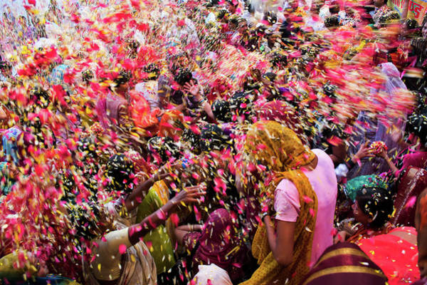 Holi Photograph - Flower Shower by Ayan82