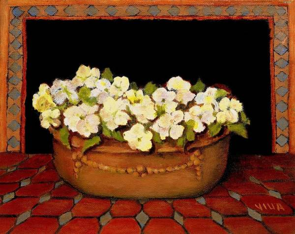 Painting - Flower Tub Rose Bay by VIVA Anderson
