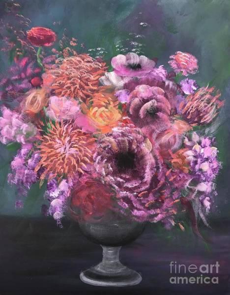 Amaryllis Painting - Flower Vibes by Elena Guryeva