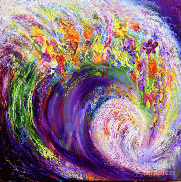 Painting - Flower Wave by Anne Cameron Cutri