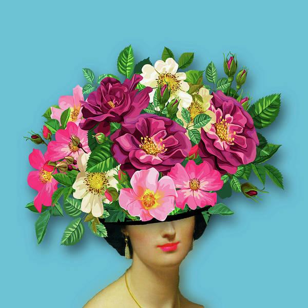 Painting - Flower Woman Surreal by Tony Rubino