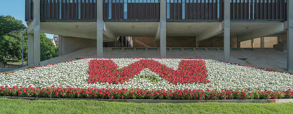 Wall Art - Photograph - Flowerbed Before University Building by Panoramic Images