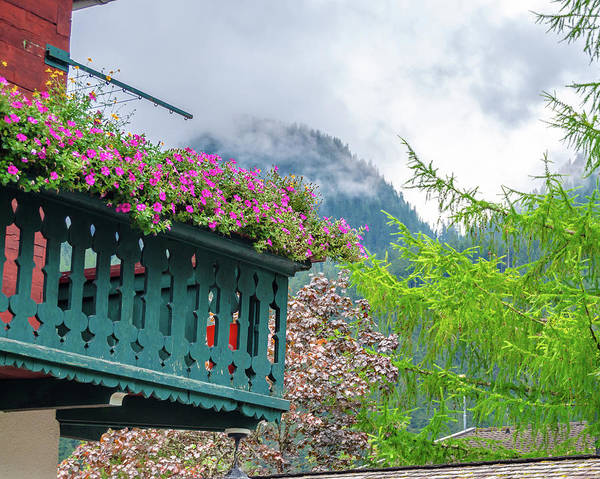 Photograph - Flowered Balcony by Borja Robles