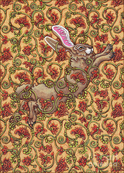 Painting - Flowered Hare 6 by Amy E Fraser