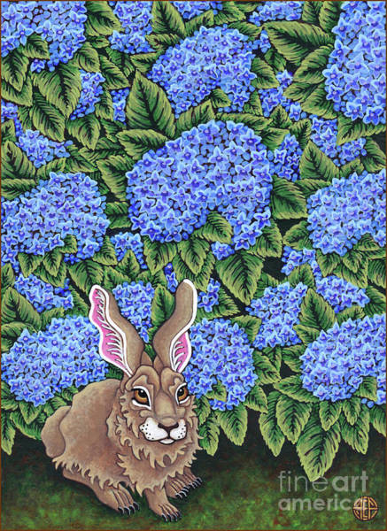 Painting - Flowered Hare 8 by Amy E Fraser