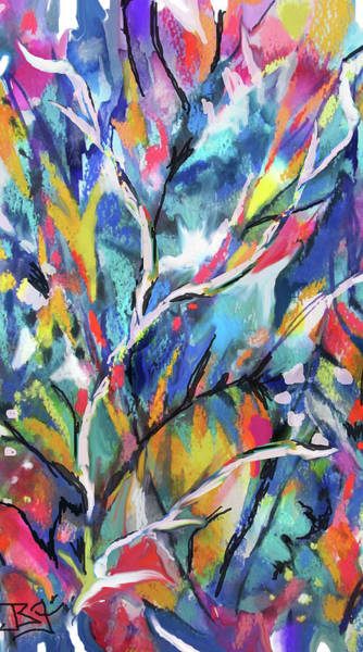 Painting - Flowered Vine by Jean Batzell Fitzgerald