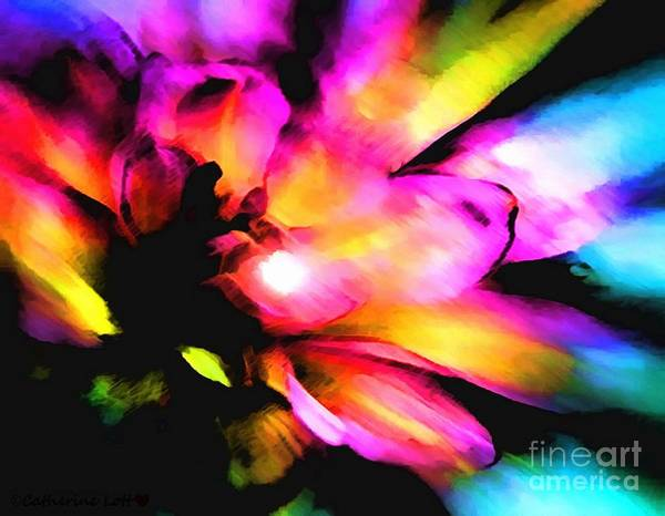 Painting - Floweret Abstract by Catherine Lott