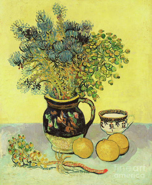 Wall Art - Painting - Flowerpiece And Fruit, 1888  by Vincent Van Gogh