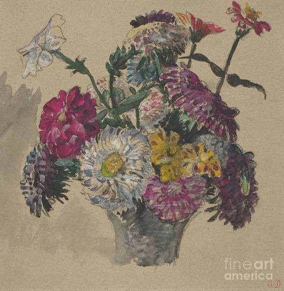 Wall Art - Painting - Flowers, 1843 By Delacroix by Ferdinand Victor Eugene Delacroix