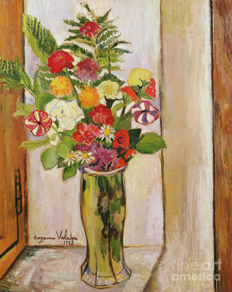Marie Painting - Flowers, 1929 by Marie Clementine Valadon