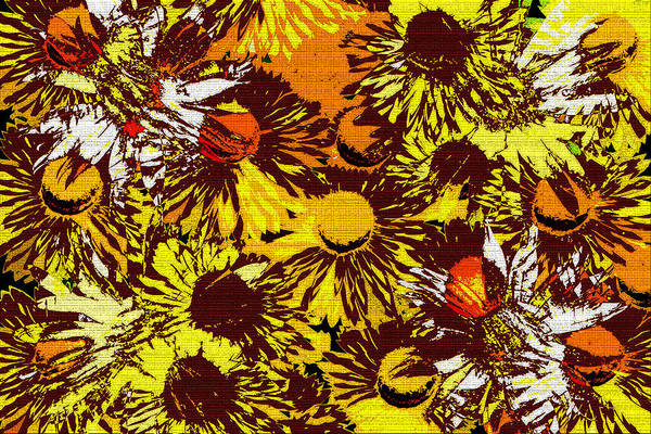 Wall Art - Digital Art - Flowers Americana by David Lee Thompson