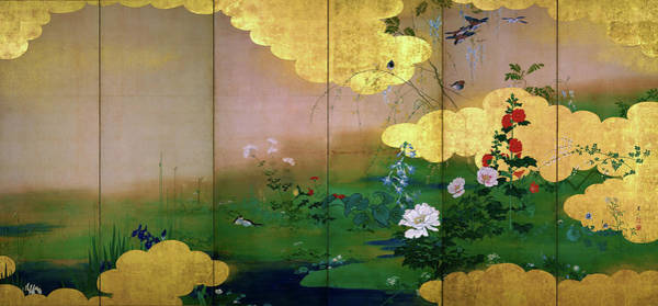 Wall Art - Painting - Flowers And Birds Of The Four Seasons - Digital Remastered Edition by Shibata Zeshin