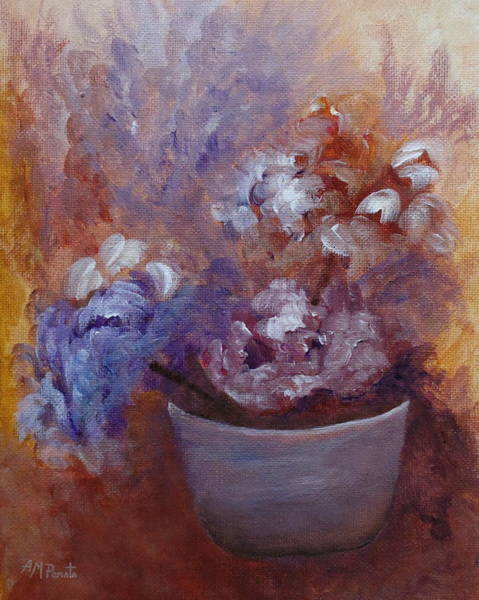 Painting - Flowers And Clay by Angeles M Pomata