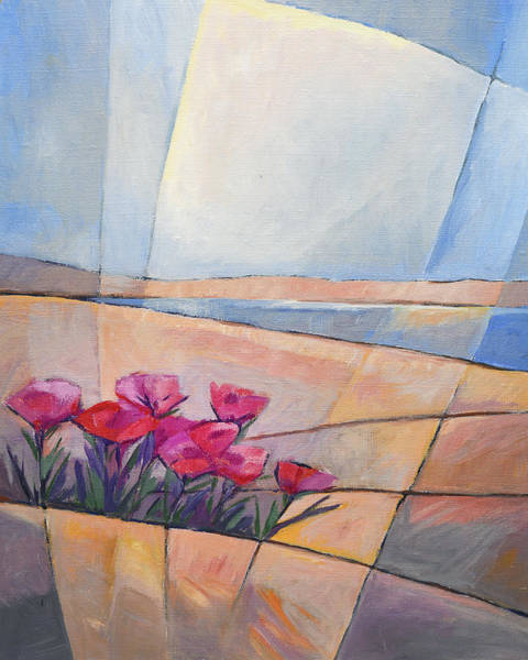 Wall Art - Painting - Flowers At Coast by Lutz Baar