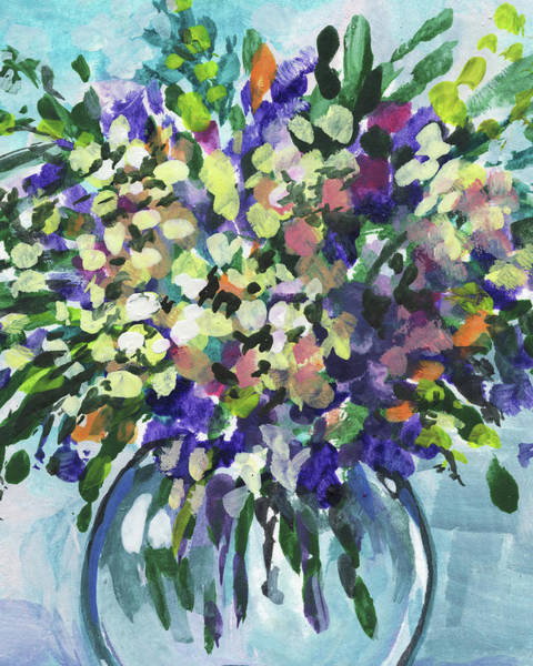 Painting - Flowers Bouquet Summer Explosion Floral Impressionism  by Irina Sztukowski