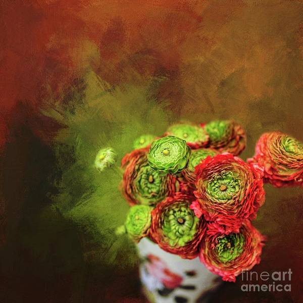 Mixed Media - Flowers For Mom by Eva Lechner