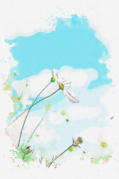 Painting - Flowers, Hofu, Japan -  Watercolor By Ahmet Asar by Ahmet Asar
