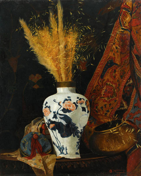 Wall Art - Painting - Flowers In A White Vase by Osman Hamdi Bey