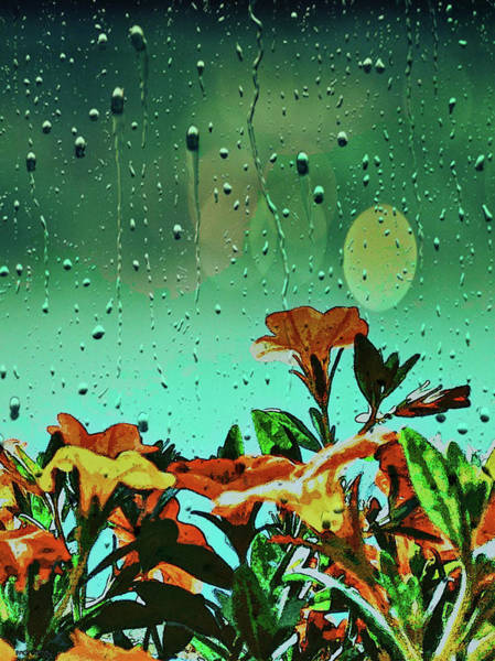 Mixed Media - Flowers In Rain by AE collections