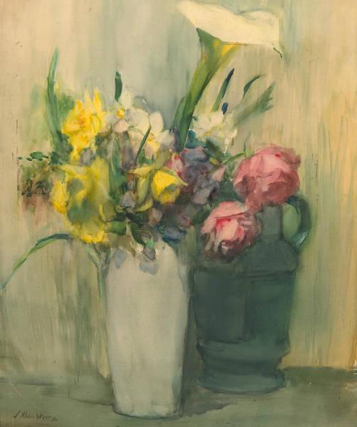 Wall Art - Painting - Flowers by Julian Alden Weir