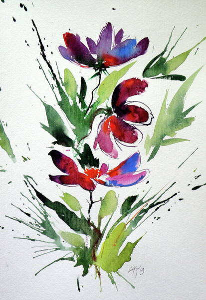 Wall Art - Painting - Flowers Of Summer C by Kovacs Anna Brigitta
