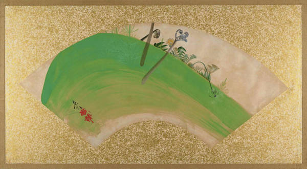 Wall Art - Painting - Flowers On Grass - Digital Remastered Edition by Shibata Zeshin