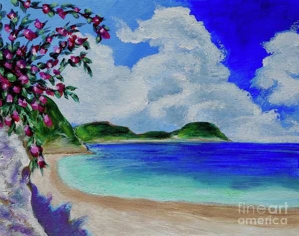 Painting - Flowers On The Beach by Jacqueline Athmann