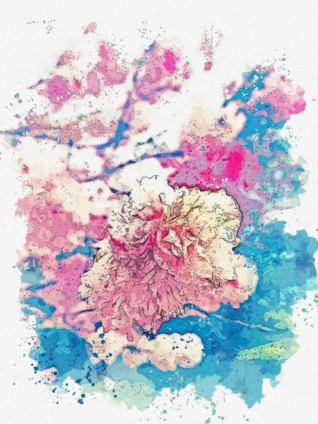 Painting - Flowers -  Watercolor By Adam Asar by Adam Asar