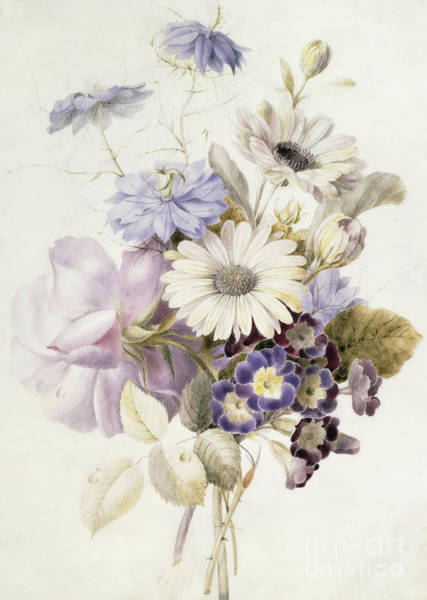 Wall Art - Painting - Flowers With Daisies, 1840 by French School