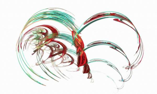 Digital Art - Flowing Beauty Red by Don Northup