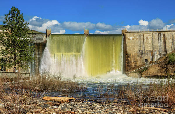 Wall Art - Photograph - Flowing Black Canyon Dam by Robert Bales