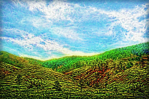 Digital Art - Flowing Hills Dream by Joel Bruce Wallach
