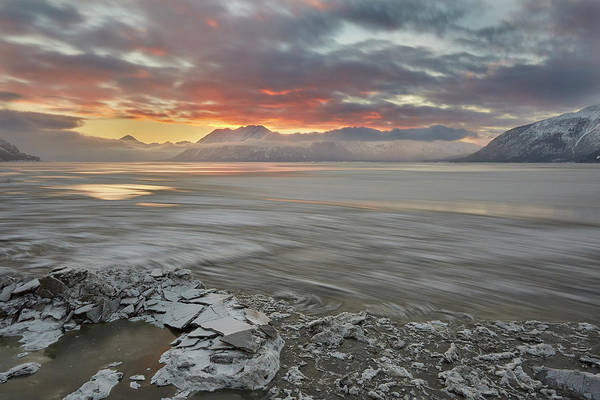 Wall Art - Photograph - Flowing Ice On Turnagain Arm by Tim Grams