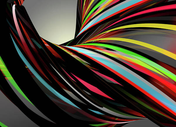 Wall Art - Photograph - Flowing Multi Colored Stripes by Ikon Images
