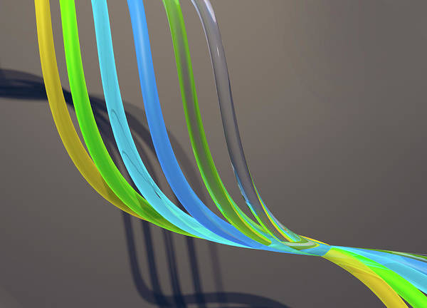 Wall Art - Photograph - Flowing Translucent Tubes by Ikon Images