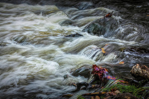 Photograph - Flowing Water In A October Autumn On The Thornapple River by Randall Nyhof