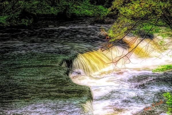 Digital Art - Flowing Water. by Rusty R Smith