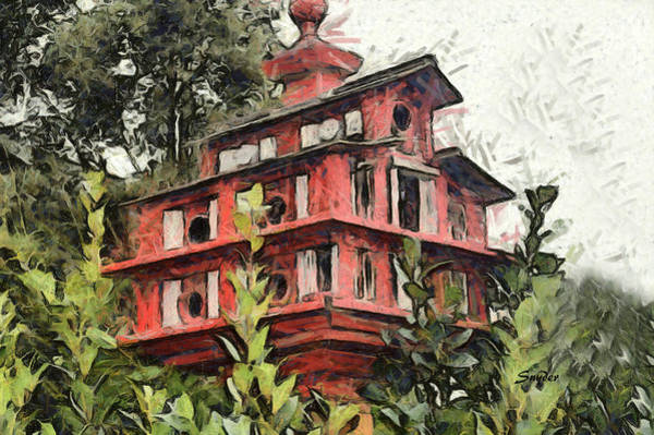 Photograph - Birdhouse Bates Motel by Floyd Snyder
