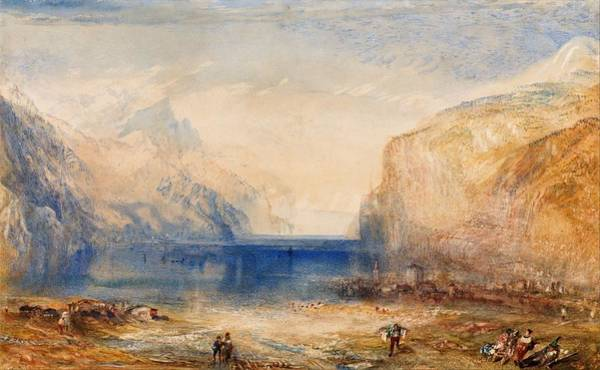 Wall Art - Painting - Fluelen  Morning - Digital Remastered Edition by William Turner