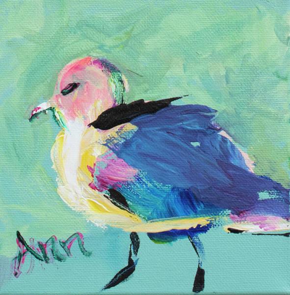 Wall Art - Painting - Fluffy Belly Bird by Ann Lutz