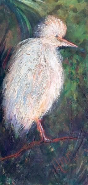 Wall Art - Painting - Fluffy Bird by Ann Lutz