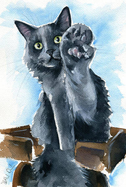 Painting - Fluffy Paw Five by Dora Hathazi Mendes