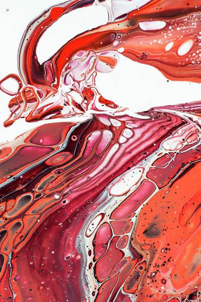 Wall Art - Photograph - Fluid Acrylic Abstract. Unknown Taste 3 by Jenny Rainbow