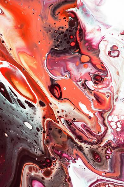 Wall Art - Photograph - Fluid Acrylic Abstract. Unknown Taste 5 by Jenny Rainbow